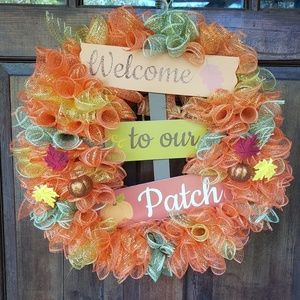 Fall Welcome to our Patch Wreath